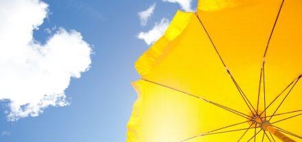 umbrella protecting against UV light