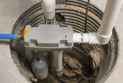 a sump pump installed the basement