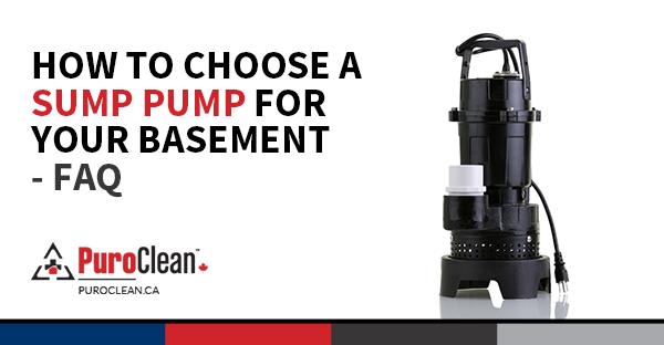 How to Choose a Sump Pump for Your Basement – FAQ - PuroClean