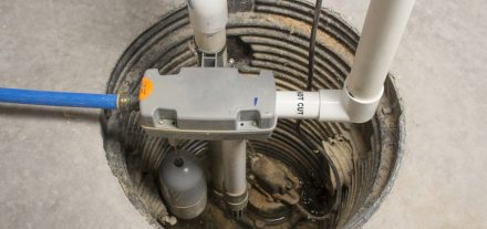 a sump pump installed the basement