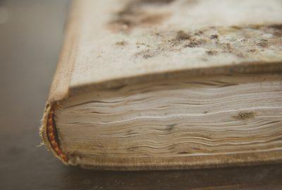 water damaged book